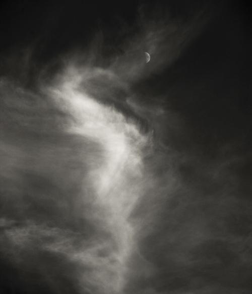 Lune et nuage © Stéphane Louis, 2017